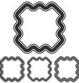 Black line marketing logo design set vector image vector image