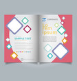 brochure template geometric squares colorful vector image vector image