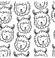 childish seamless pattern with hand drawn lamas vector image vector image