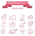 Collection stock of Christmas icons vector image vector image