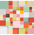 Colorful Abstract Squares Retro Background vector image vector image