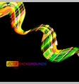 colorful shapes motion effects on a black scene vector image vector image