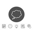 comic speech bubble line icon chat sign vector image