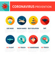 coronavirus prevention tips infographic vector image