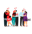 couple in love and hashtag love isolated on vector image vector image