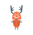 cute cartton deer beetle colorful character vector image vector image