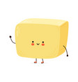 cute funny butter character hand drawn vector image vector image