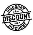discount round grunge black stamp vector image vector image