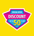 discount up to 50 percent off - tag badge