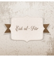 Eid al-Fitr realistic paper Badge with Text vector image