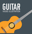 flat guitar poster background concept vector image vector image