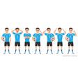 footballer character constructor asian soccer vector image vector image