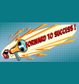 forward to success mouth screaming into a vector image vector image