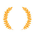 gold laurel wreath vintage wreaths heraldic vector image