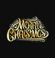 greeting card for merry christmas vector image vector image