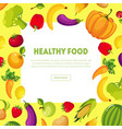 healthy food banner with space for text fresh vector image vector image