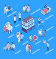 hospital departments infographics layout vector image vector image