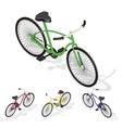 Isometric retro bicycle vector image vector image