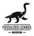 jurassic museum logo simple black style vector image vector image