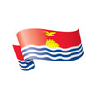 kiribati flag on a white vector image
