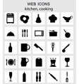 Kitchen tools icons Silhouette vector image