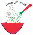 Love to Cook vector image vector image