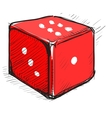 Lucky dice cartoon icon vector image vector image