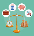 money and business concept vector image