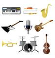 music intrument band equipment graphic set vector image