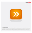 next arrow icon orange abstract web button vector image