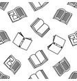 open books with outline seamless pattern vector image vector image