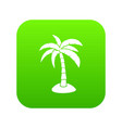 palm icon digital green vector image vector image