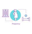 pregnancy concept icon vector image