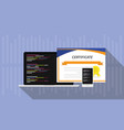 programming skill certificate certification with vector image