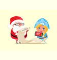santa and wishlist poster vector image vector image