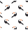 seamless pattern with tropical toucan birds vector image