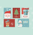 set card celebration happy christmas vector image vector image