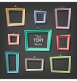 Set of cartoon picture frames vector image vector image