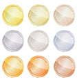 set of polished round shiny disks from platinum vector image vector image