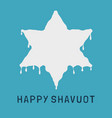 shavuot holiday flat design icon of milk dripping vector image