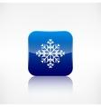 Snowflake icon Application button vector image