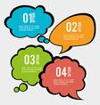Speakbox bubbles design vector image