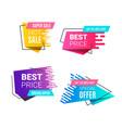 speed style gradient banner vector image