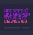 strict font vector image vector image