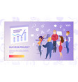 success project presentation cartoon banner vector image