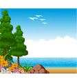 summer landscape for you design vector image