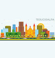 tegucigalpa honduras city skyline with color vector image vector image