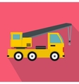 Truck mounted crane icon flat style vector image vector image