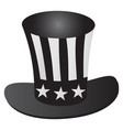 uncle sams hat 4th july celebration grayscale icon vector image