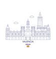 valencia city skyline spain vector image vector image